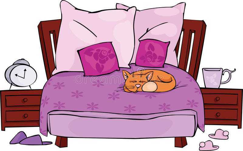sypialnia royalty ilustracja