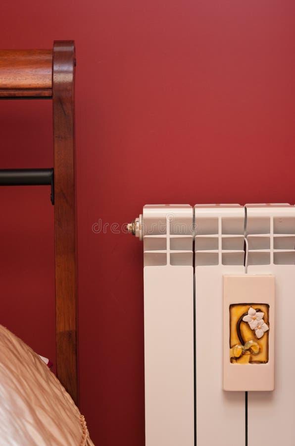 sypialnia grzejnik zdjęcia stock