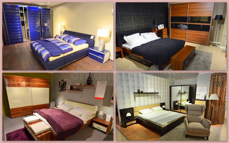 Sypialnia kolaż fotografia royalty free