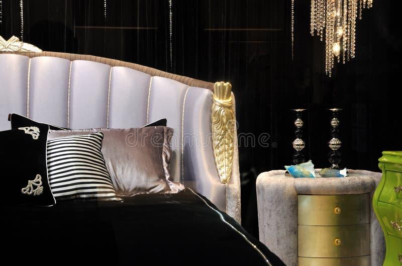 sypialnia kolor zgłębia styl obraz stock