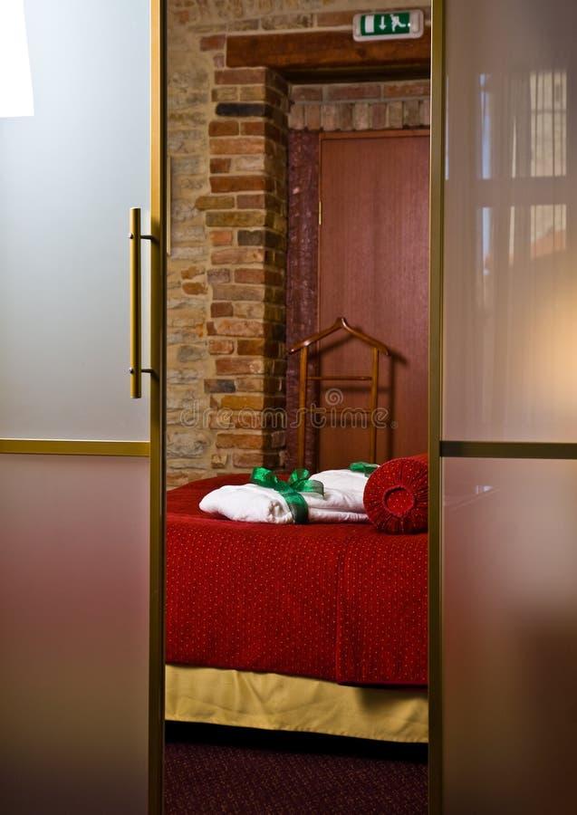 sypialnia luksusowy hotel obraz stock