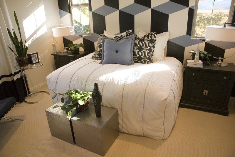 sypialnia luksusu w domu fotografia royalty free