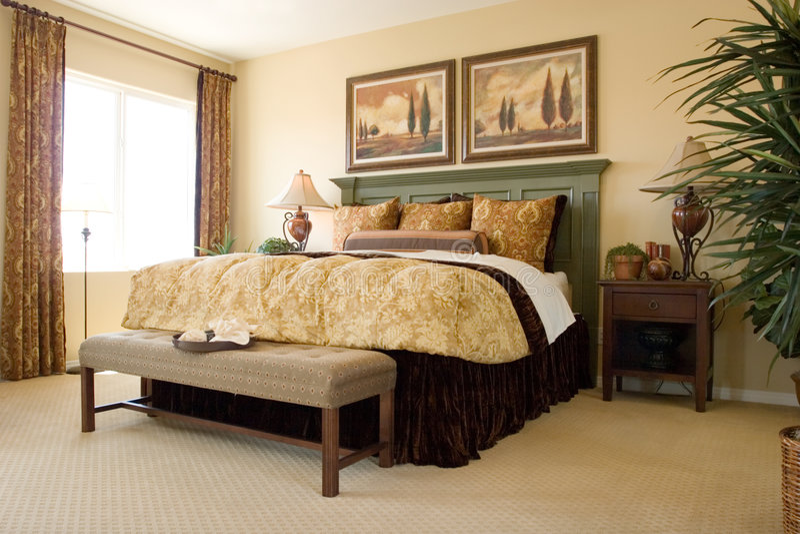 sypialnia nowoczesnej obraz stock