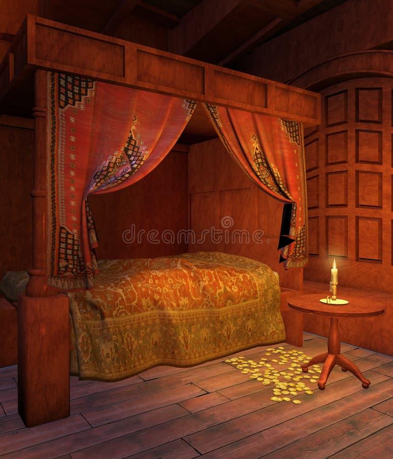 sypialnia pirat ilustracja wektor