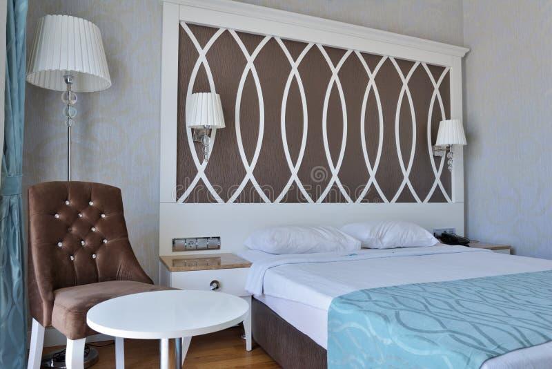 sypialnia projektu nowoczesnego wnętrze obraz royalty free