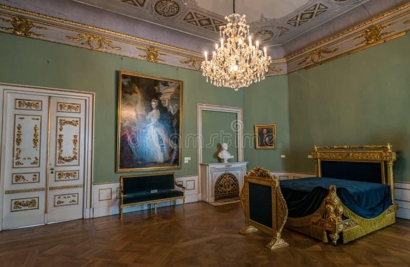Sypialnia przy Stadtschloss w Weimar zdjęcia royalty free