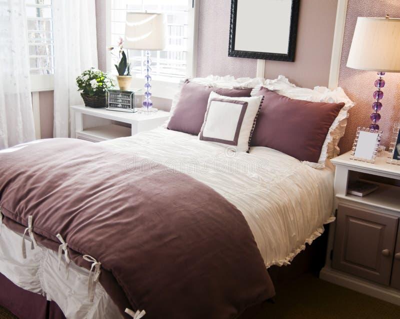 sypialnia wnętrza projektu eleganckie zdjęcie stock