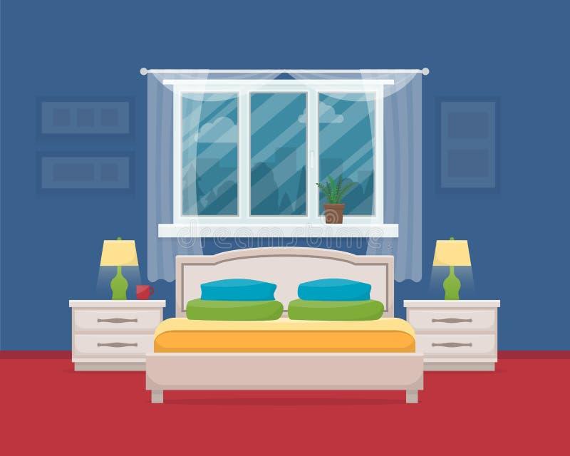 Sypialnia z meble ilustracja wektor