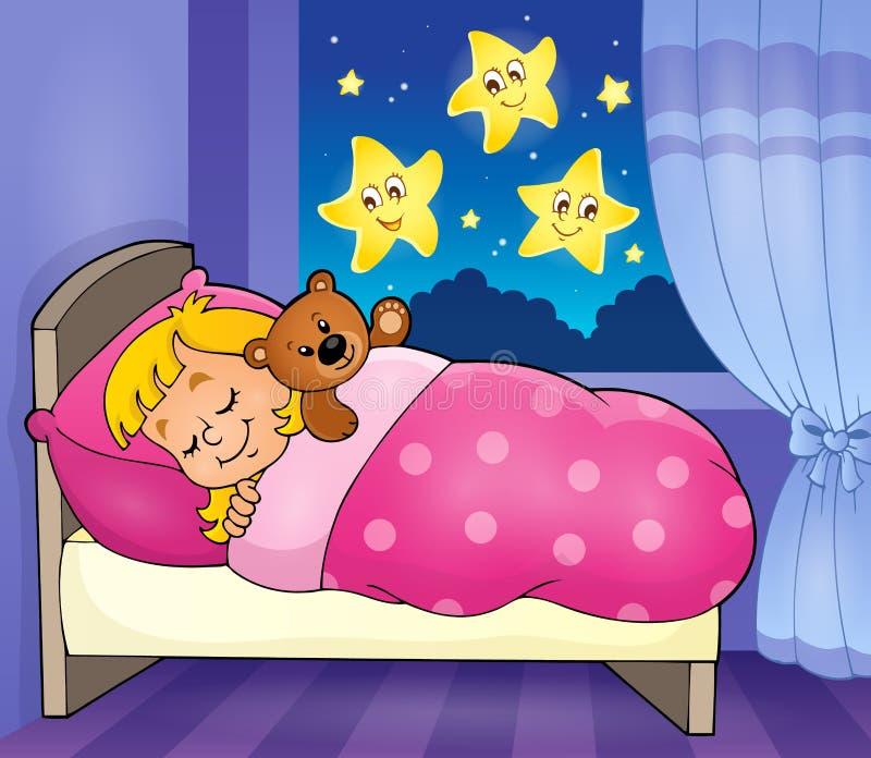 Sypialny dziecko tematu wizerunek 2 ilustracji