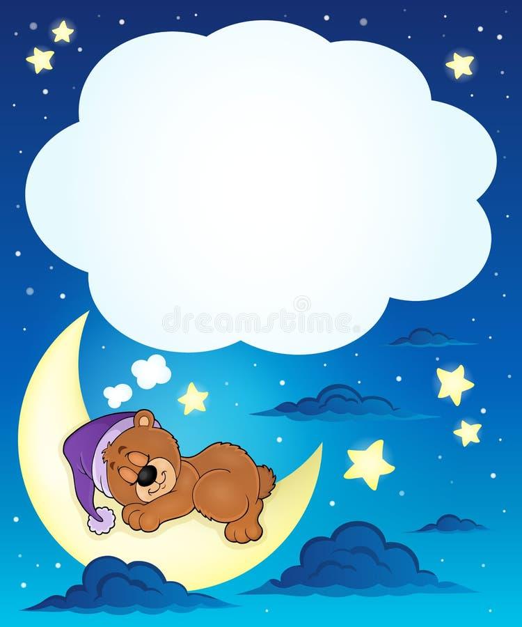 Sypialny niedźwiadkowy tematu wizerunek 6 ilustracji