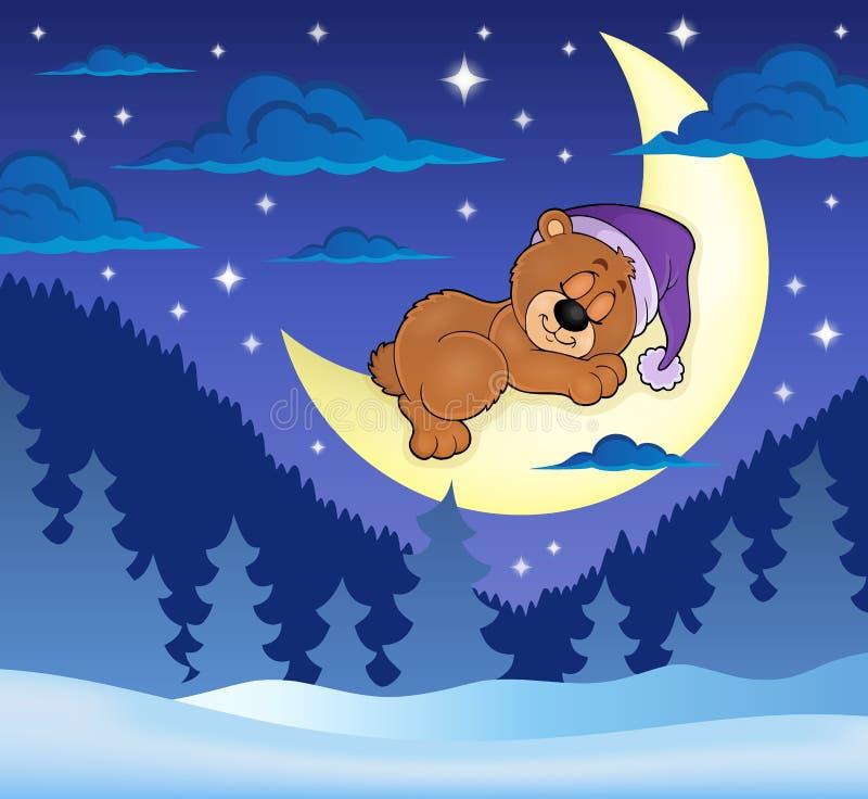 Sypialny niedźwiadkowy tematu wizerunek 8 ilustracji