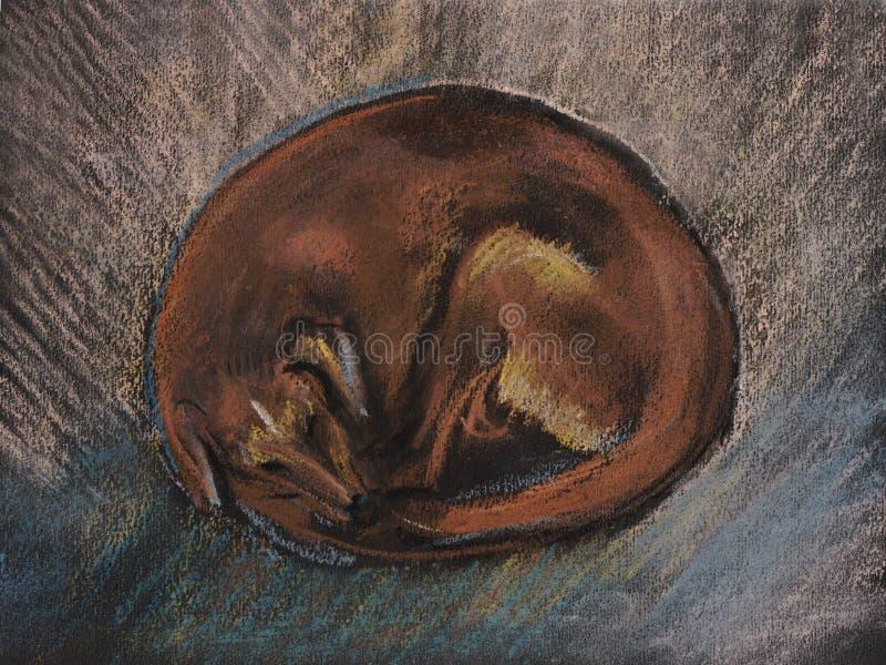 Sypialny pies ilustracji