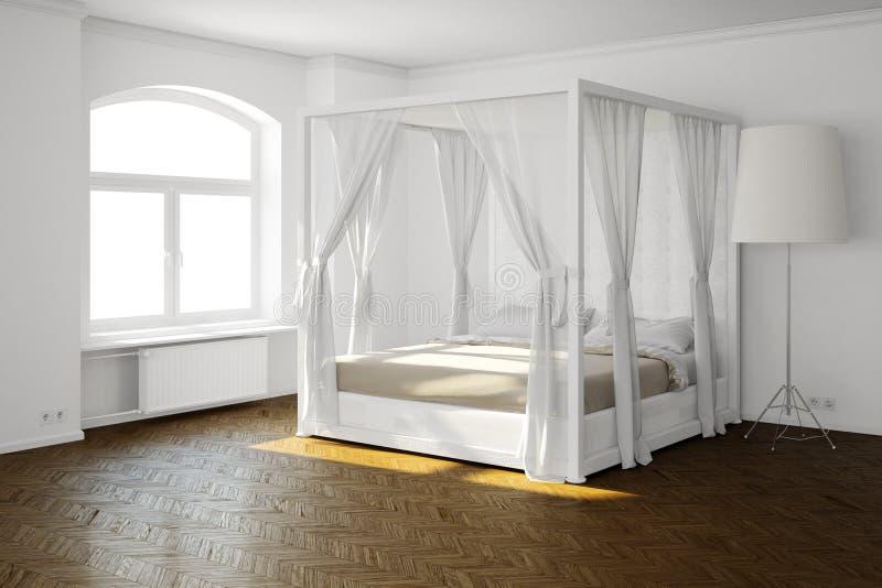 Sypialny pokój z łóżkiem royalty ilustracja