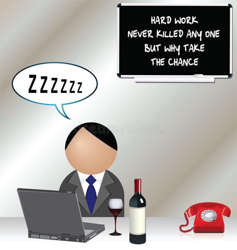 sypialny pracownik ilustracja wektor