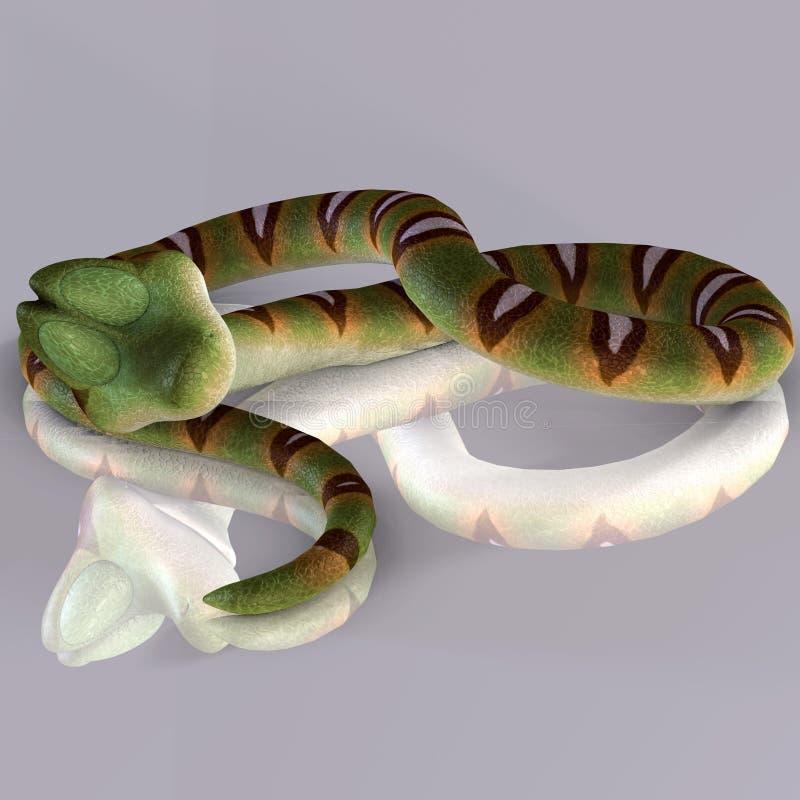 Sypialny wąż ilustracja wektor