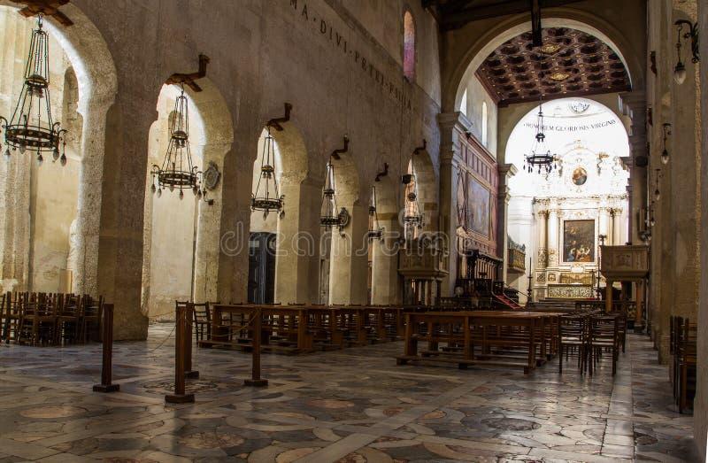 Syracuse, binnenlandse Duomo, royalty-vrije stock afbeeldingen