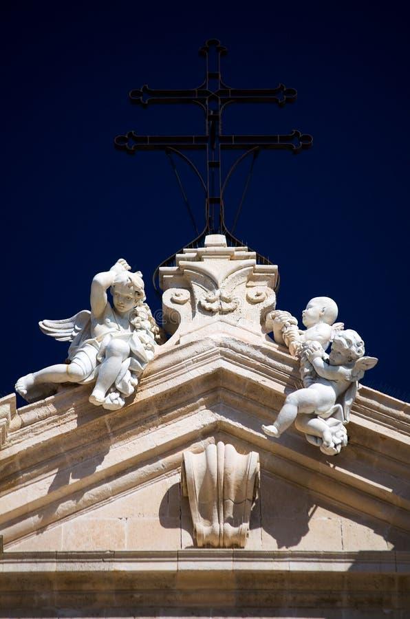 Syracuse, de Duomo-details stock afbeelding