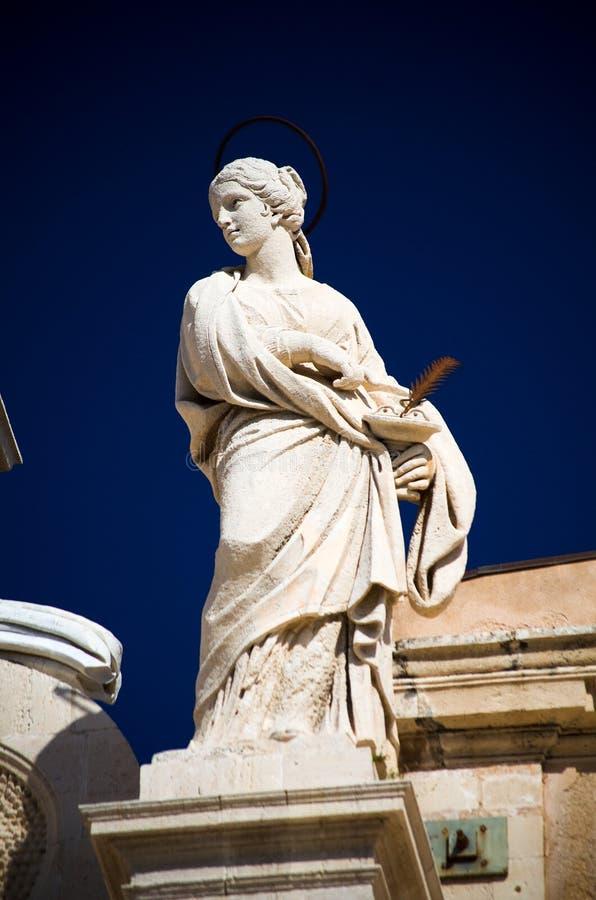 Syracuse, de Duomo-details stock afbeeldingen