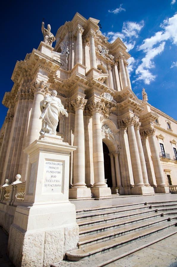 Syracuse, Duomo stock afbeeldingen