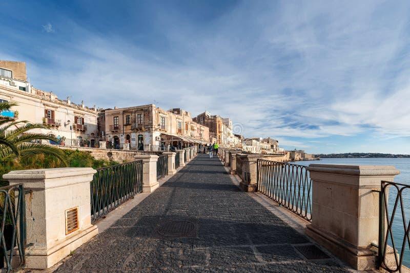 Syracuse Sicily - źródło Aretusa obrazy royalty free