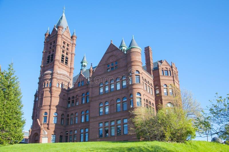 Syracuse universitet, Syracuse, New York, USA arkivbilder