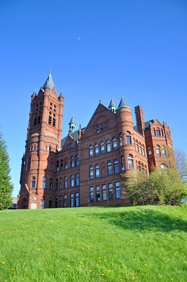 Syracuse universitet, Syracuse, New York, USA royaltyfria foton
