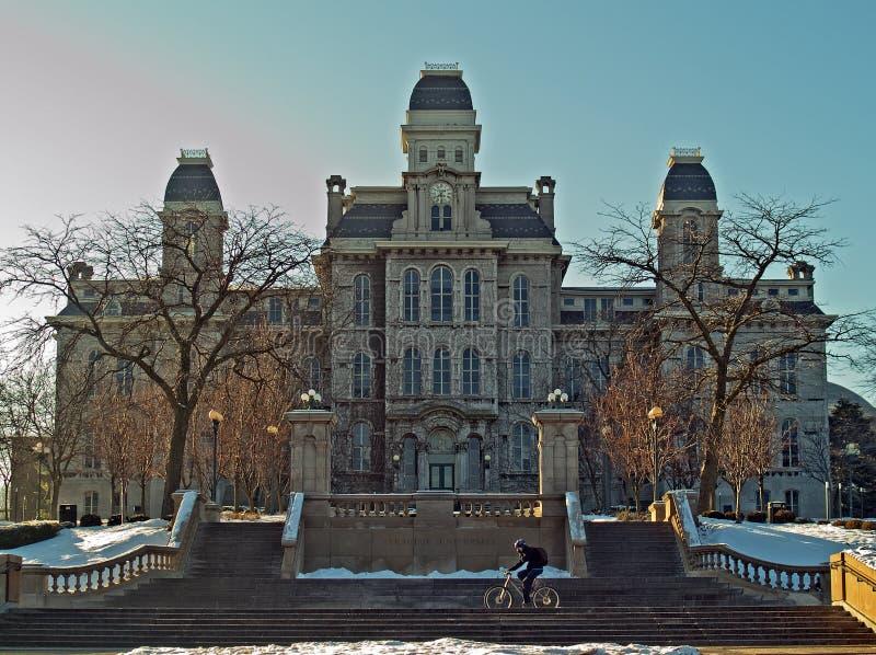 Syracuse university hall of languages stock image