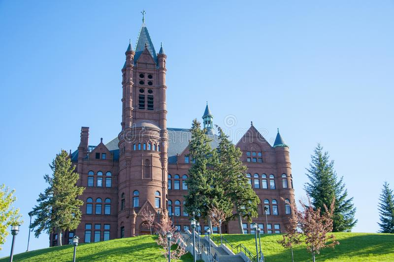 Syracuse uniwersytet, Syracuse, Nowy Jork, usa zdjęcia stock