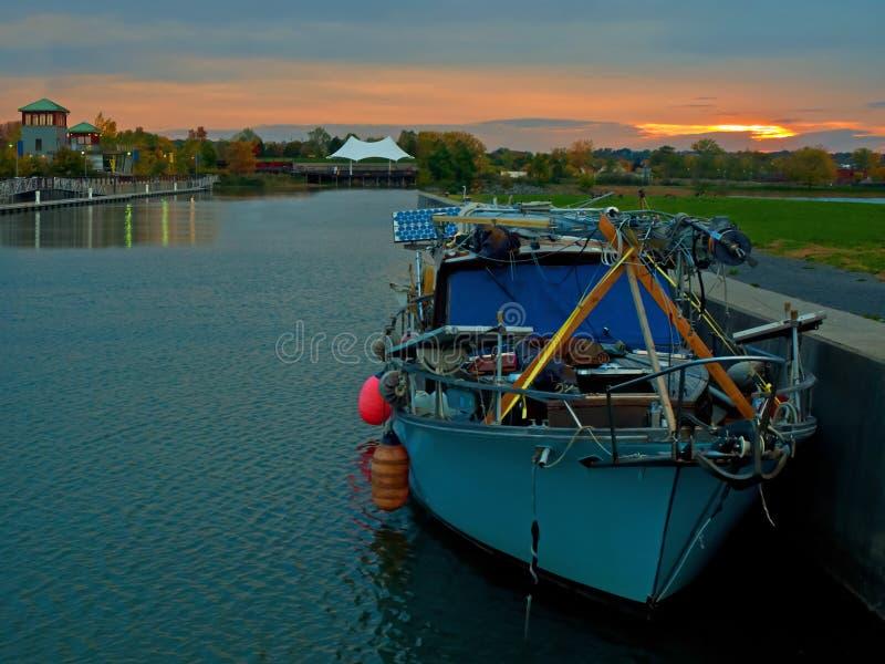 Syrakus-innerer Hafen stockbilder