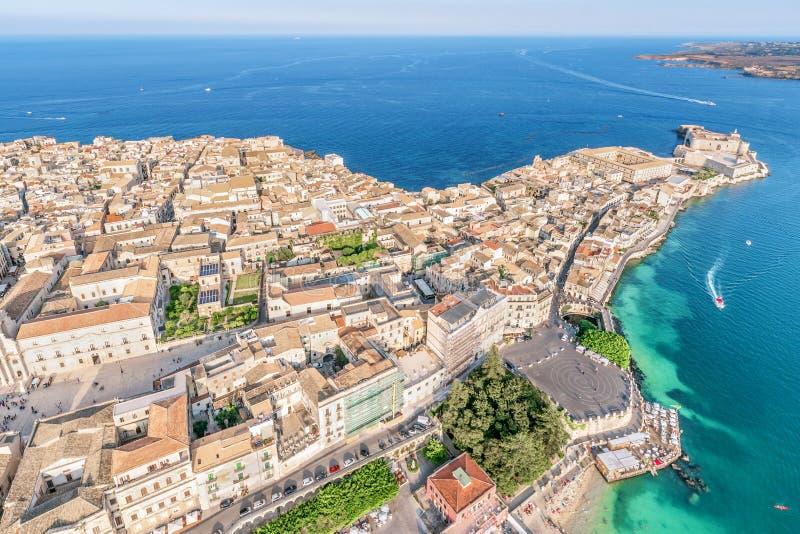 Ortigia, Syrakus Sizilien, Italien Stockfoto - Bild von ...