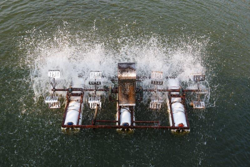 Syre för vatten- och avloppsvattenbehandling fotografering för bildbyråer