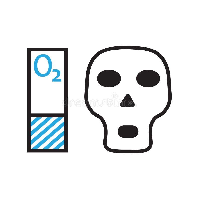 Syreförminskning och dödsymbol vektordesignillustration stock illustrationer