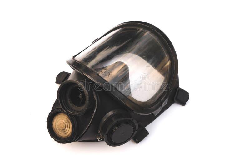 Syremask, gasmask, brandmansmask för brandmän i Thailand isolerad på vit bakgrund arkivfoto