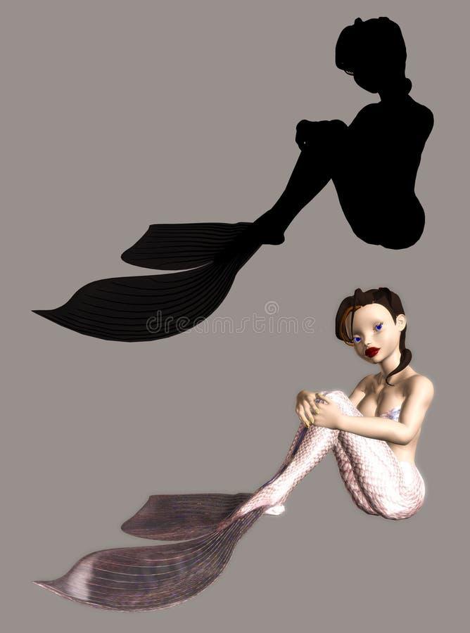 syrena royalty ilustracja