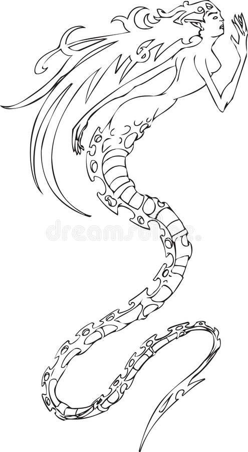 syrena ilustracja wektor