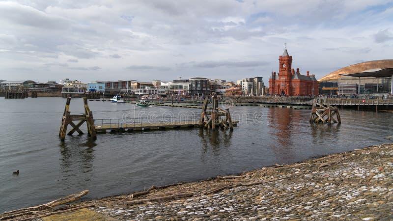 Syrenka Quay przy Cardiff zatoką obraz royalty free