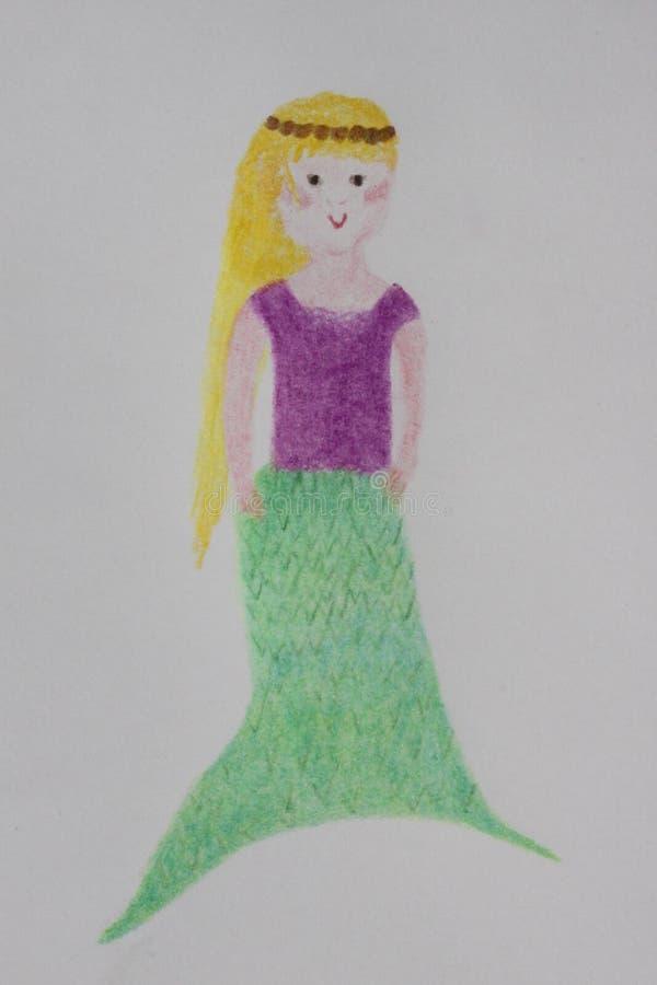 Syrenki ilustracja w colour ołówku royalty ilustracja