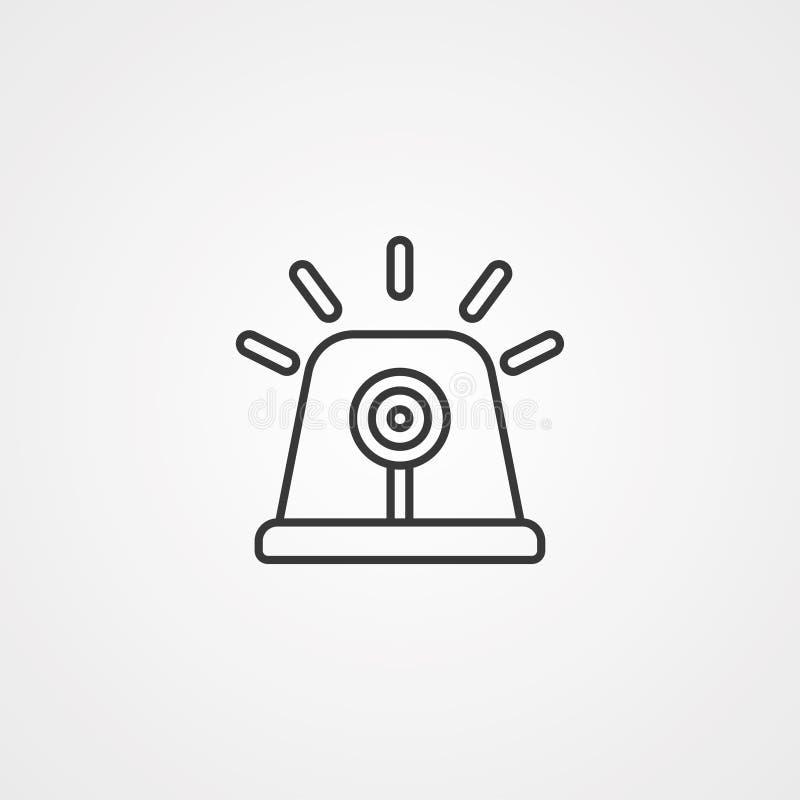 Syreny ikony znaka wektorowy symbol royalty ilustracja