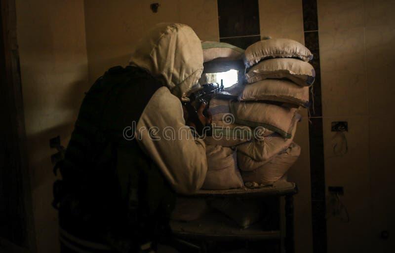 Syrië: Al-Qaeda in Aleppo royalty-vrije stock afbeeldingen