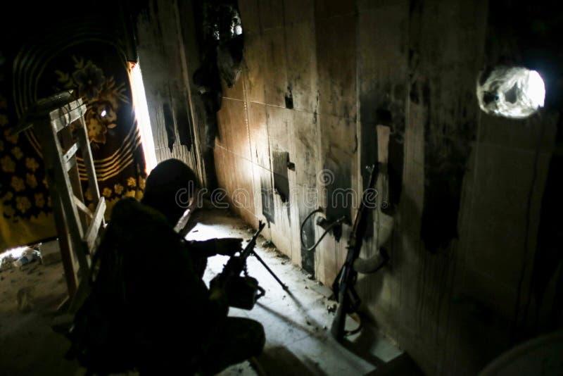 Syrië: Al-Qaeda in Aleppo stock foto's