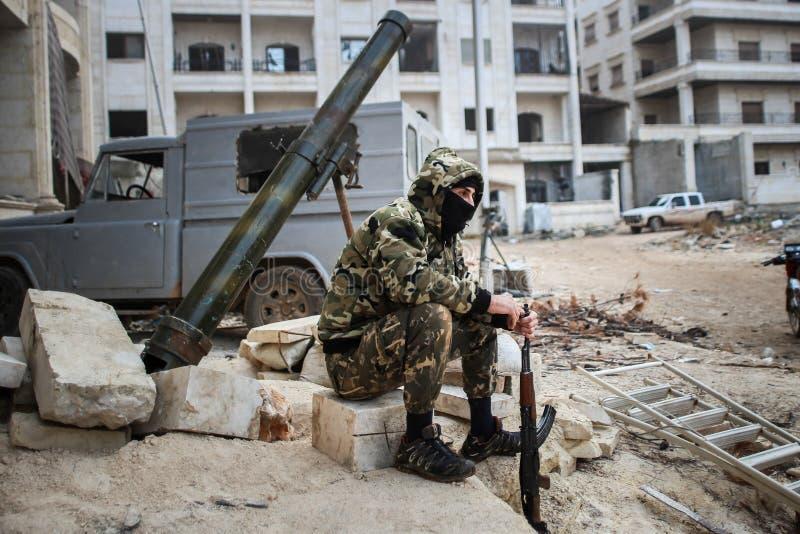 Syrië: Al-Qaeda in Aleppo royalty-vrije stock foto's