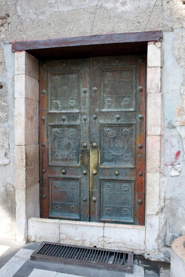 Syrië - Damascus, moskee Umayyad royalty-vrije stock afbeelding