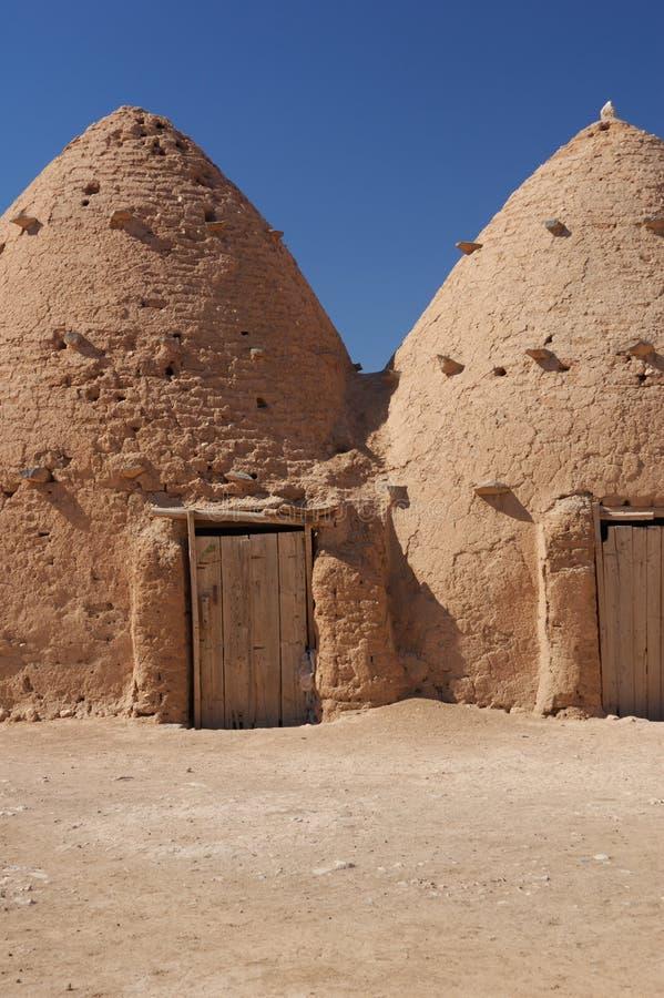 Syrië, dorp - kleihuis royalty-vrije stock afbeeldingen