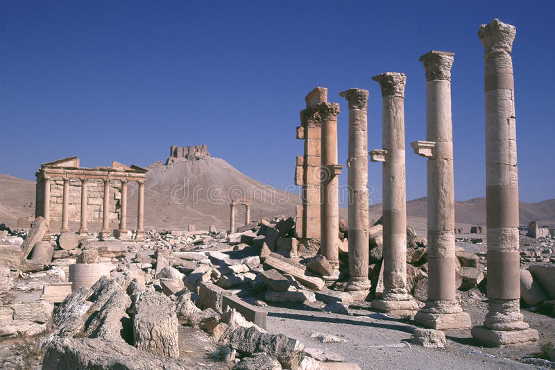 Syrië Palmyra 1 royalty-vrije stock foto