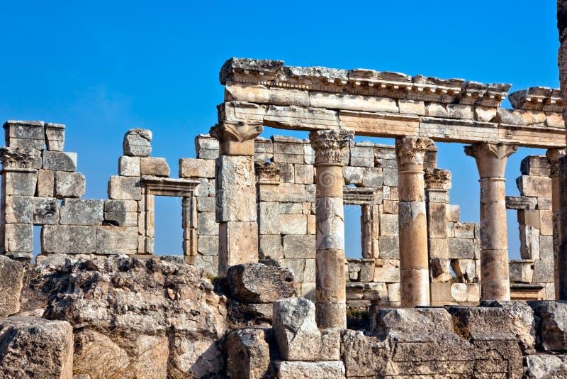 Syria - Apamea imagem de stock royalty free