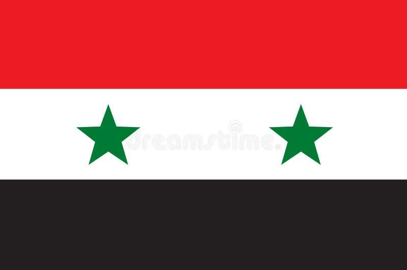 Syria bandery ilustracja wektor