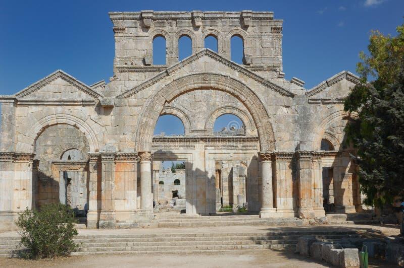 Syria - basílica de St Simeon foto de stock