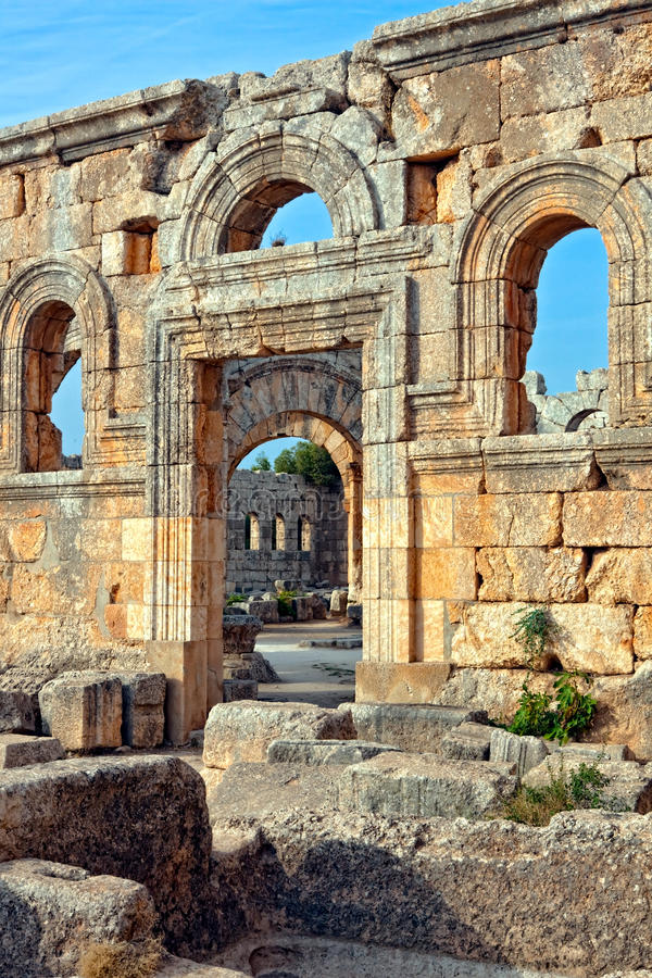Download Syria - Church Of St. Simeon - Qal'a Sim'an Stock Image - Image of majestic, east: 12074269