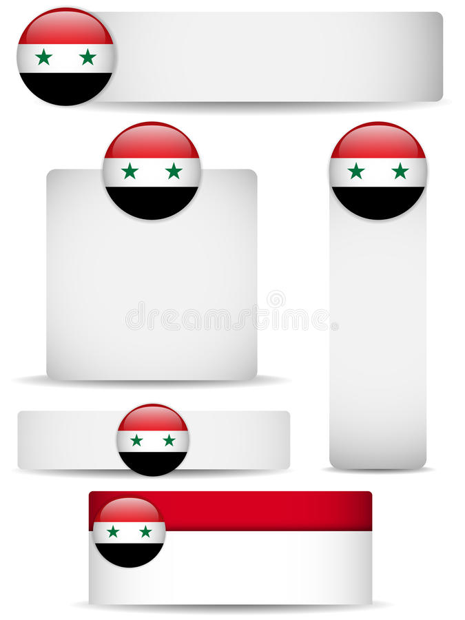 Syria Country Set of Banners