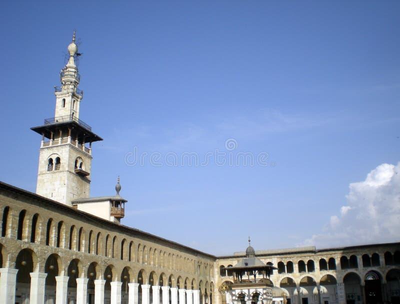 syria damascus damascus storslagen moskéomayyad syria arkivbilder